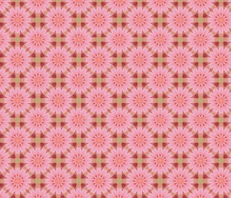 Floral Pink and Coral fabric by charldia on Spoonflower - custom fabric