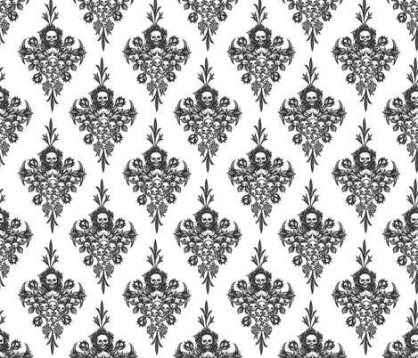 Skullflower Damask - small