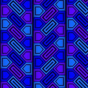 Penta Pattern Blue
