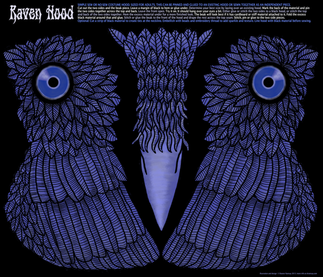 Raven Hood Costume fabric by elramsay on Spoonflower - custom fabric