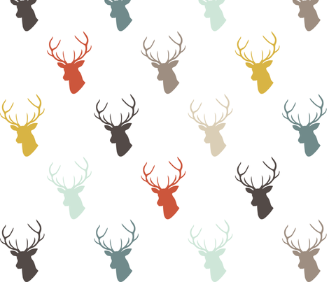 Modern Deer fabric by mrshervi on Spoonflower - custom fabric