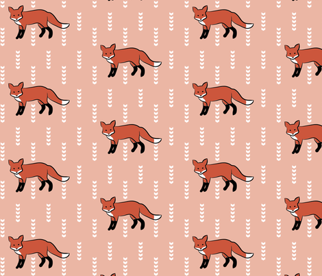 BlushingFox fabric by mrshervi on Spoonflower - custom fabric