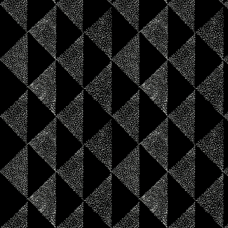 dotty triangles 1 dark fabric by brokkoletti on Spoonflower - custom fabric