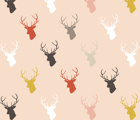 Holiday Pink Deer fabric by mrshervi on Spoonflower - custom fabric