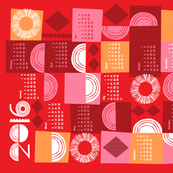 2016 juxtaposition tea towel calendar-21 inch