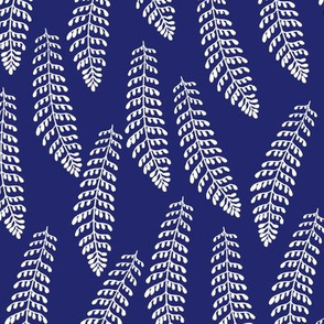 Fern in Indigo Blue