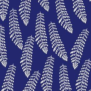 Fern in Indigo Blue