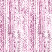 Braided Hair in Pink