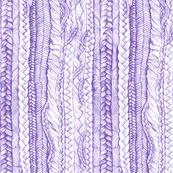 Braided Hair in Purple