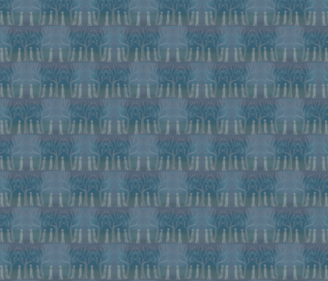 Ghost gathering fabric by linsart on Spoonflower - custom fabric