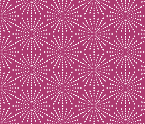 Discodot Star - Fuchsia fabric by siya on Spoonflower - custom fabric