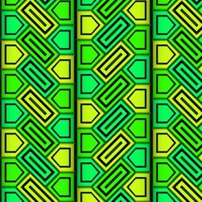 Penta Pattern Green