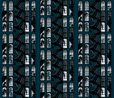 Amore Noir fabric by drea311 on Spoonflower - custom fabric