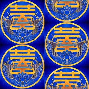 Blue Twin Happiness & Gold Koi