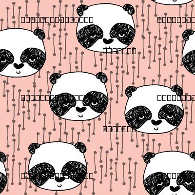 panda head // pink panda head cute panda design by andrea lauren pink panda fabric best panda design