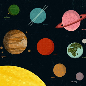 Solar System Wall Hanging by Andrea Lauren