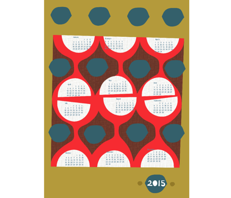 2015 retro tea towel calendar-27 inch