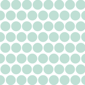 aqua on white polka dot