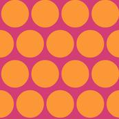 jumbo orange on pink spot