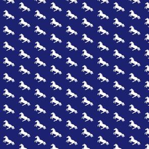White Pony Indigo Diagonal