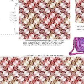 DIY handbag - pebble pink