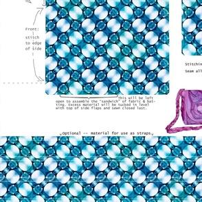 DIY handbag - pebble blue