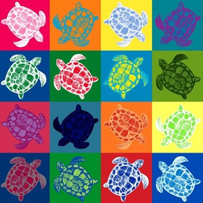 Loggerhead Sea Turtle Patchwork