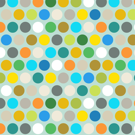 multi air polka dot fabric by scrummy on Spoonflower - custom fabric