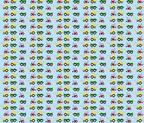 Diggers, dumpers and demolition  fabric by craftwithcartwright on Spoonflower - custom fabric
