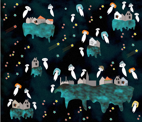Ghost town fabric by sarah_s_ on Spoonflower - custom fabric