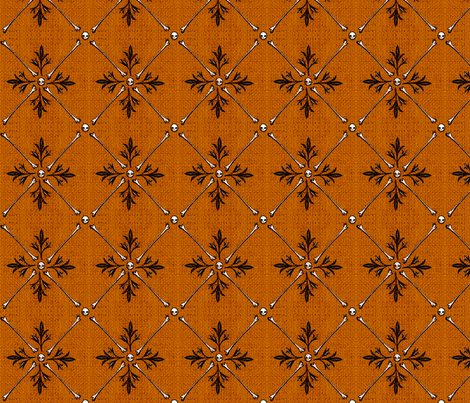 Skeleton Burlap - orange