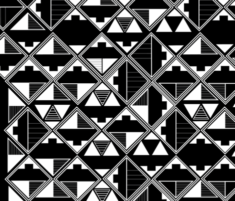 Geometric Tribal Design fabric by ahandcraftedhome on Spoonflower - custom fabric