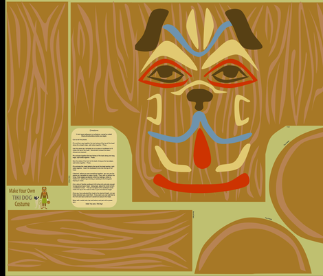 tiki_dog fabric by roxiespeople on Spoonflower - custom fabric