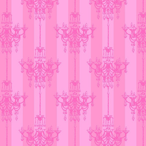 Princess chandelier damask
