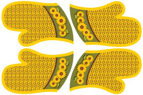 Golden Sunflowers Oven Mitts