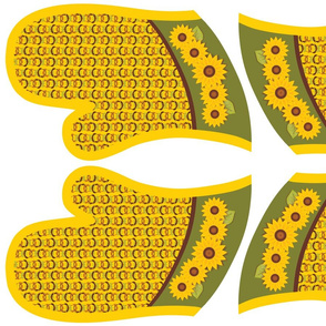 Golden Sunflowers Oven Mitts