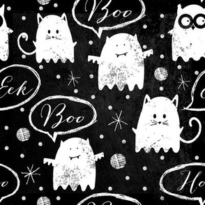Chalkboard Ghost Friends