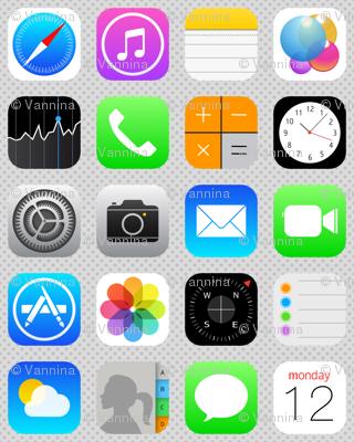 Phone Apps (Flat design)