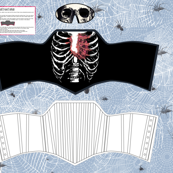bleeding heart ribcage corset