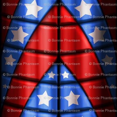Superhero suits - Red, Blue, White Stars