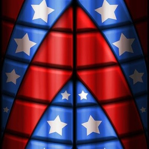 Superhero suits - Red, Blue, White Stars