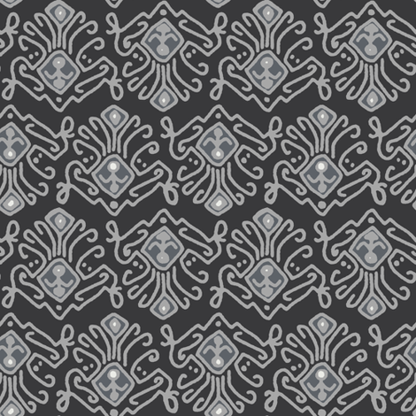 pewter saffron fabric by scrummy on Spoonflower - custom fabric