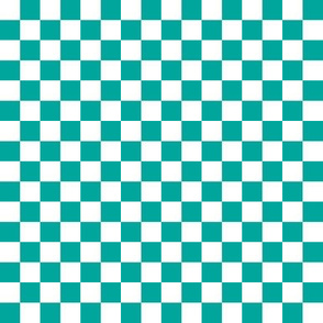 Checkerboard Teal