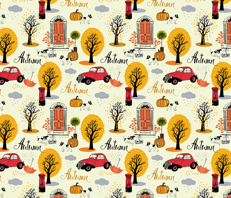 Autumn trees fabric by nenilkime on Spoonflower - custom fabric