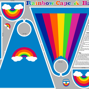 Rainbow Cape and Bag
