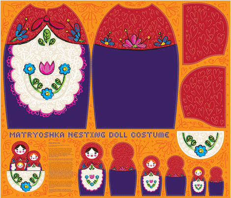 Matryoshka Nesting Doll Costume fabric by sammyk on Spoonflower - custom fabric