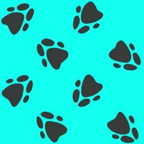 Pawprints Aqua