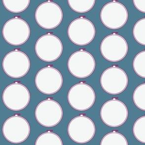 Hoop | Hydrangea Blue with Jawbreaker Pink-ch