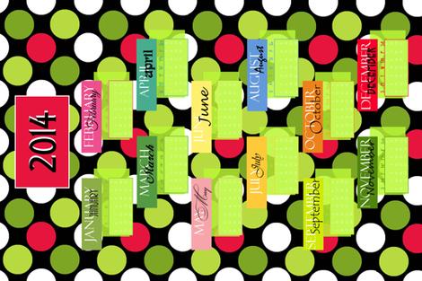2014 Mod Tea Towel fabric by kelly_a on Spoonflower - custom fabric