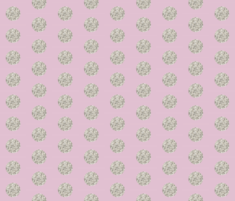 silver glitter dots on peony fabric by eivie&co on Spoonflower - custom fabric